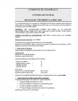 CONSEIL du 04-04-2014
