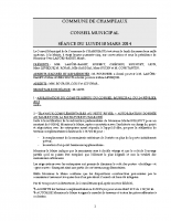 CONSEIL du 10-03-2014