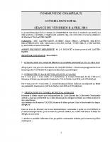 CONSEIL du 11-04-2014