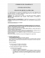 CONSEIL du 24-04-2014