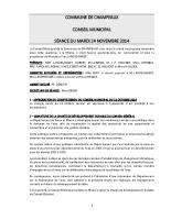 CONSEIL du 25-11-2014