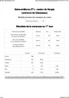 Elections à Champeaux