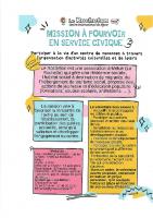 Mission en Service civique